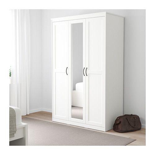 Ikea Hang Legkast.Songesand Kledingkast Wit Ikea White Wardrobe Wardrobe