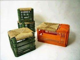 Reciclar Cajas De Refrescos Cajones De Plástico Sillones Reciclados Cajas Decoradas