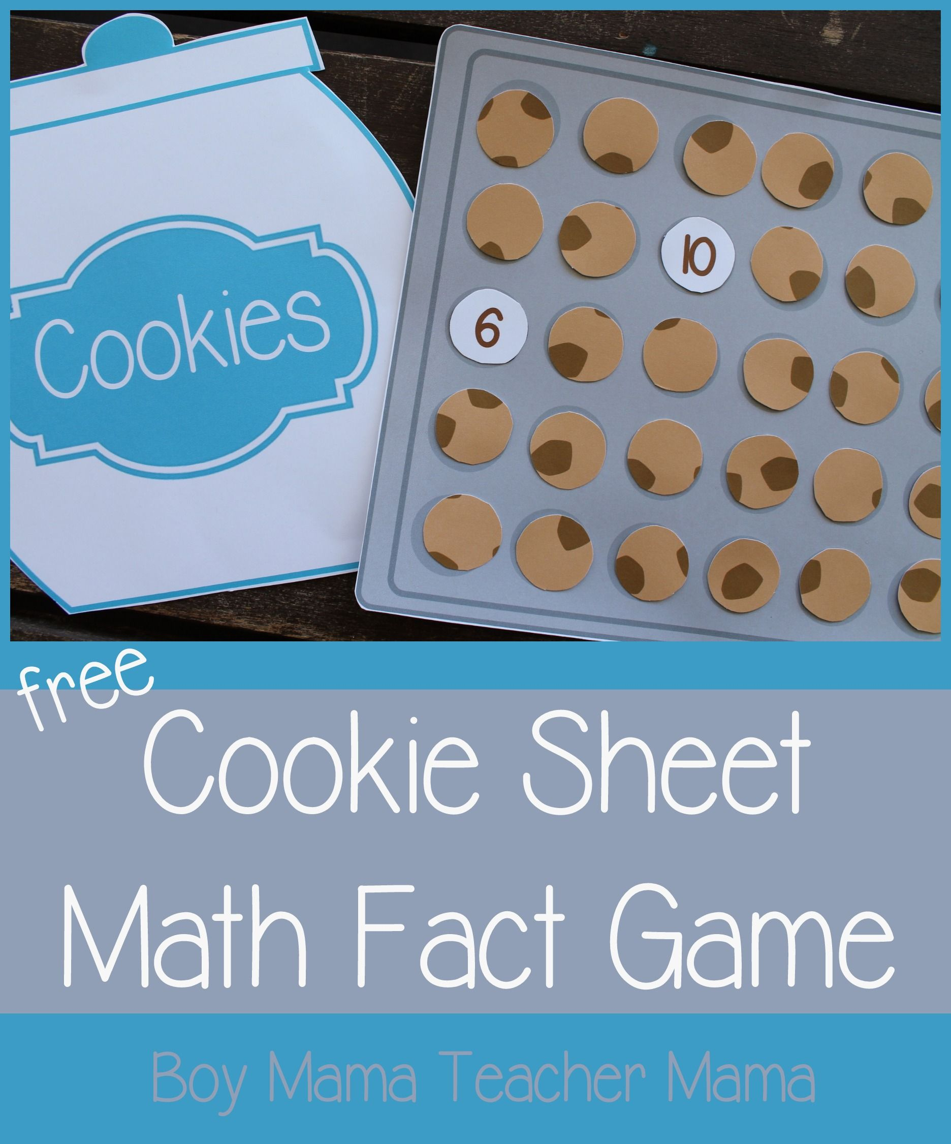 Teacher Mama Free Printable Cookie Sheet Math Fact Game After