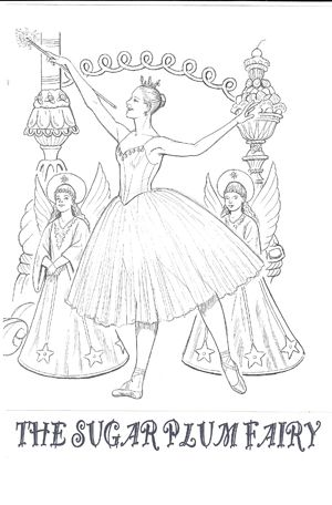 Sugar Plum Fairy Dance Coloring Pages Christmas Coloring Pages