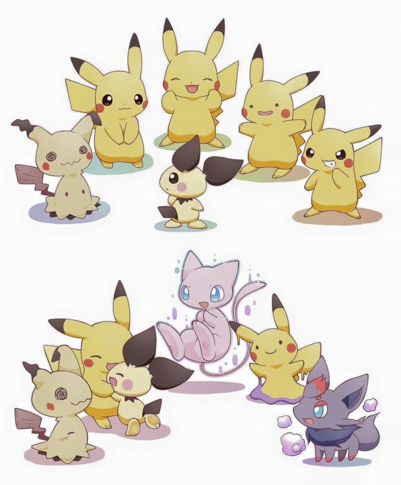 This is so cute!! The other Pokémon were pretending to be Pikachu to