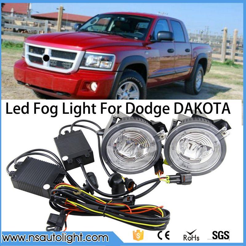 New One Set Led Fog Light Led Drl Daytime Running Light For Dodge Dakota 2001 2002 2003 2004 For Dodge Durango 2001 Led Fog Lights Dodge Dakota Running Lights