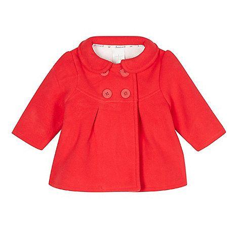 Designer babies red fleece coat | Jasper conran, Peter pan collars ...