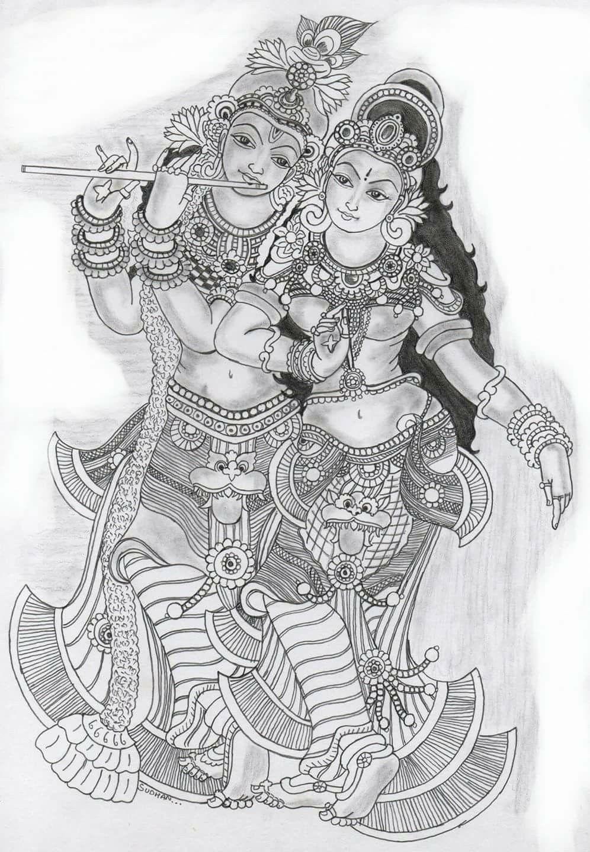 Drawings   Kerala mural painting, Madhubani painting ...