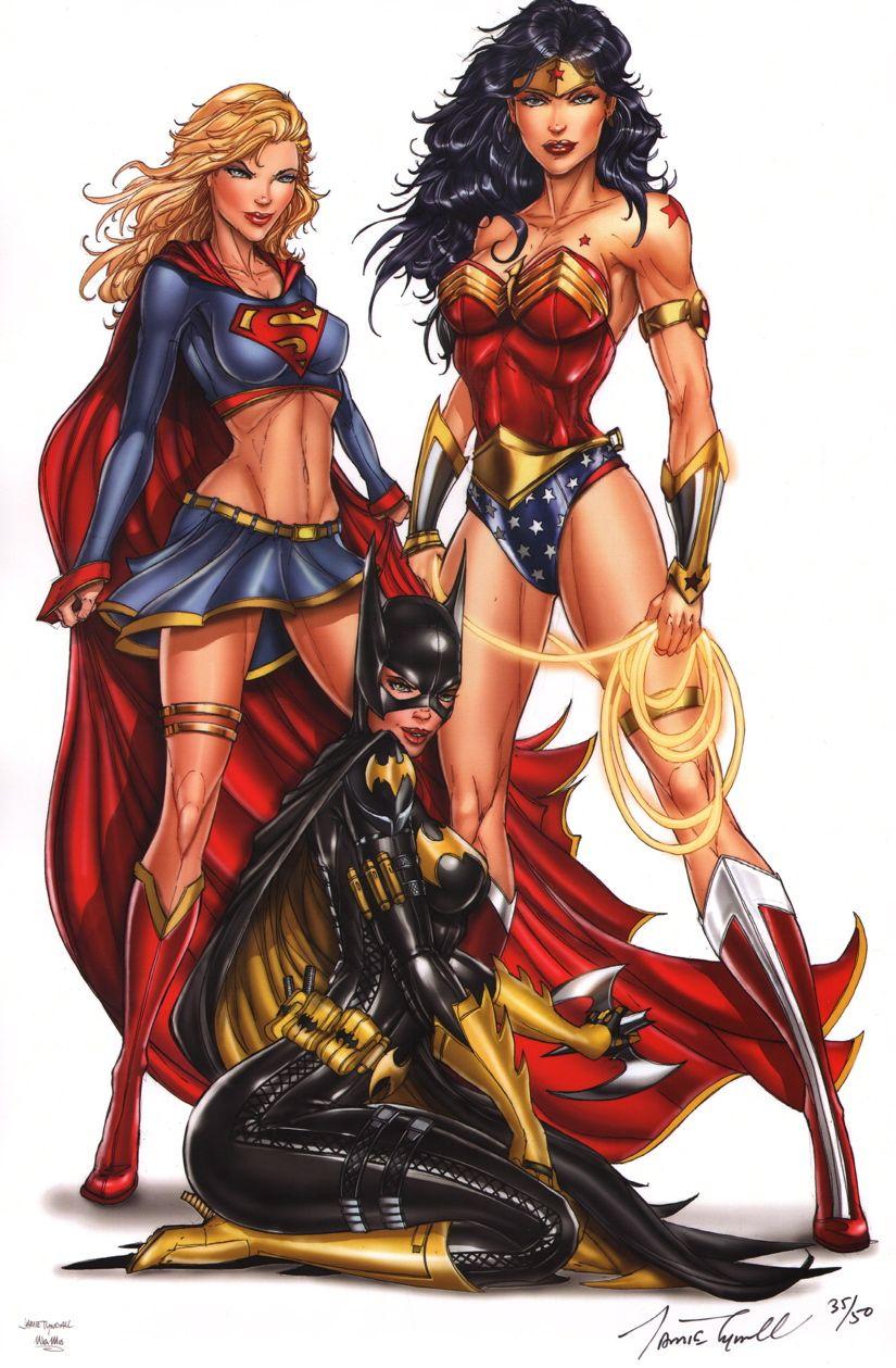 batgirl supergirl and naked Wonder woman