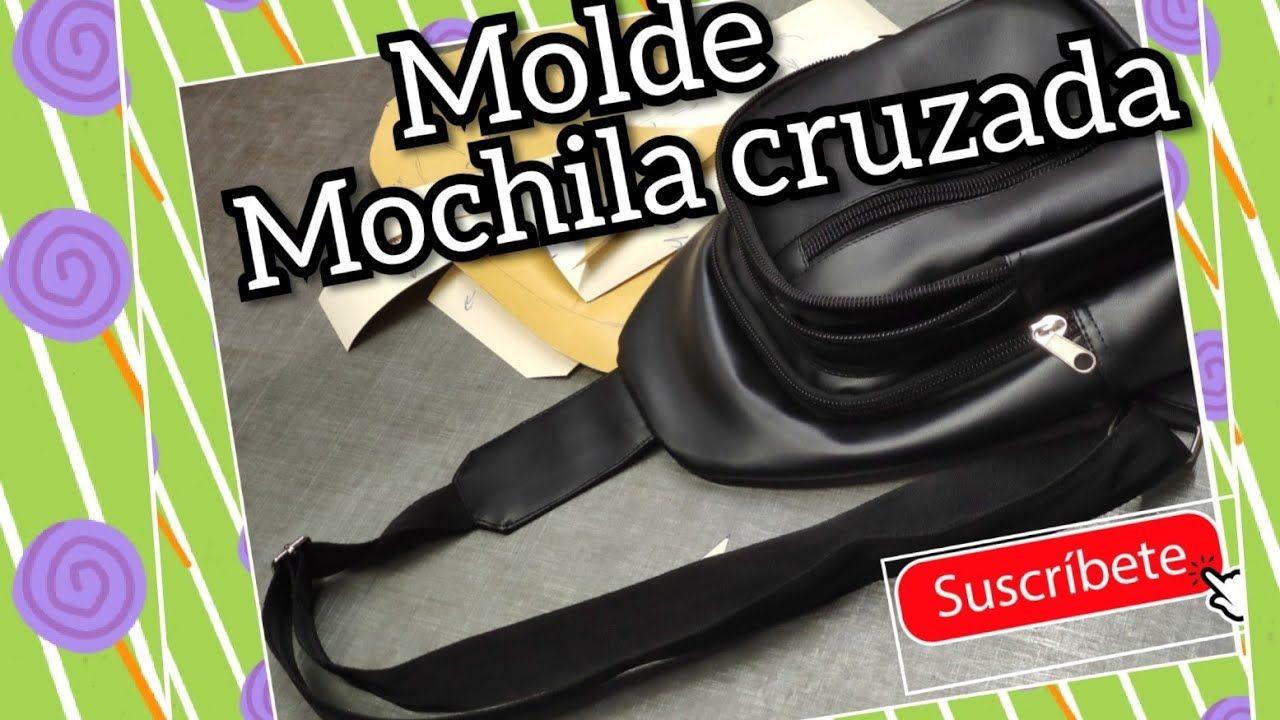 DIY MOLDE MOCHILA CRUZADA. cross man bag   Mochila cruzada