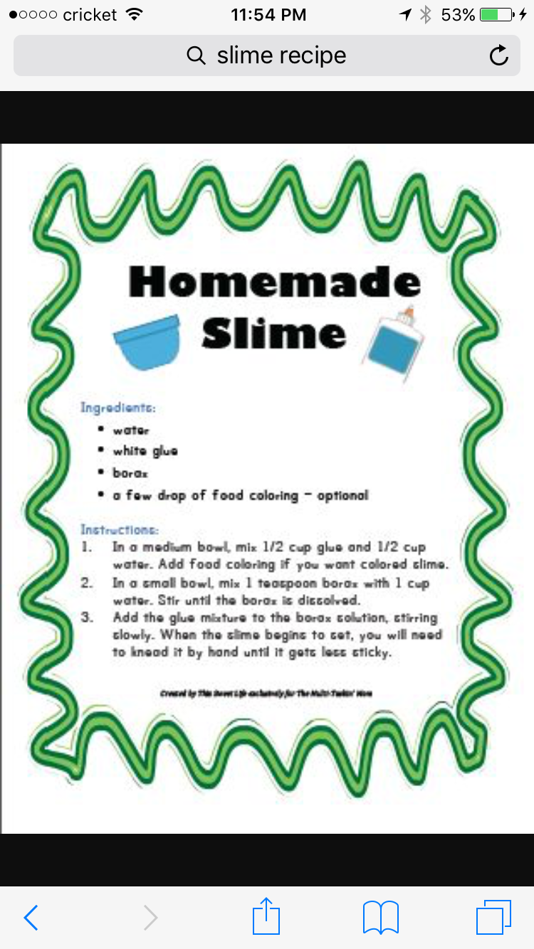 Pin by valarie ann hughes on slime pinterest slime sunday how to make slime so easy ccuart Choice Image