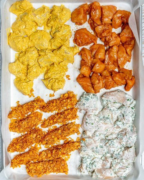 One Sheet Pan Meal Prep Chicken 4 AWESOME Ways!