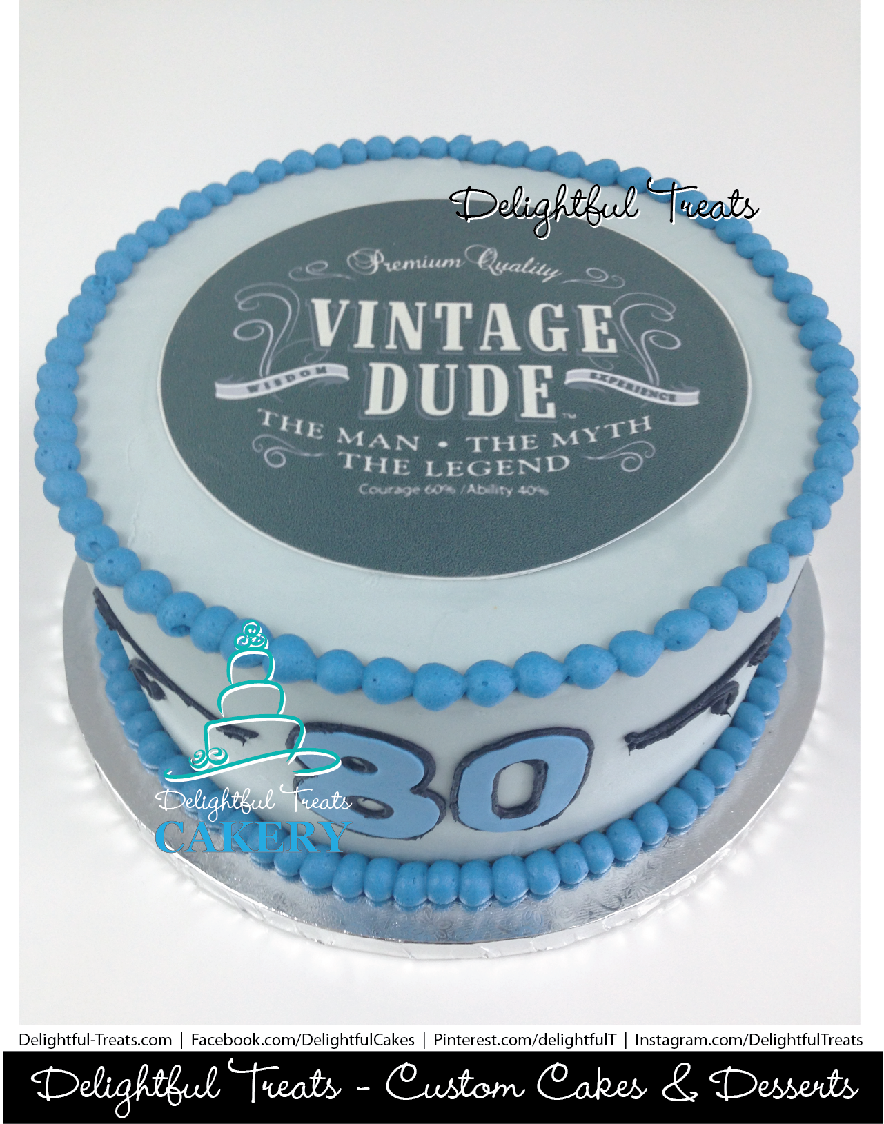 Vintage Dude Cake By Delightful Treats Cakery Orlando