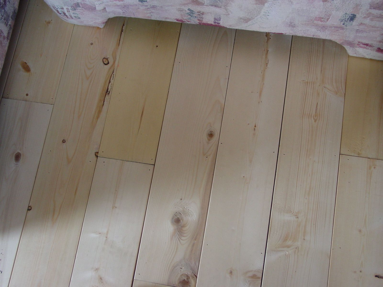 My Sunroom Floor 1x6 Pine Boards Then Paint Or Stain To What Ever Color You Want I Then Continued It Into Our Living Room L Flooring Rustic Decor Sunroom