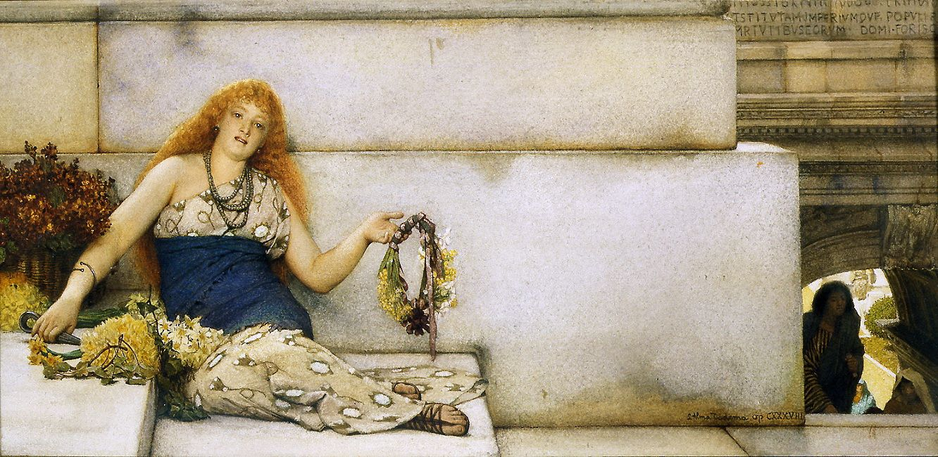 Sir Lawrence Alma-Tadema (1836-1912) - On the Steps of the Capitol