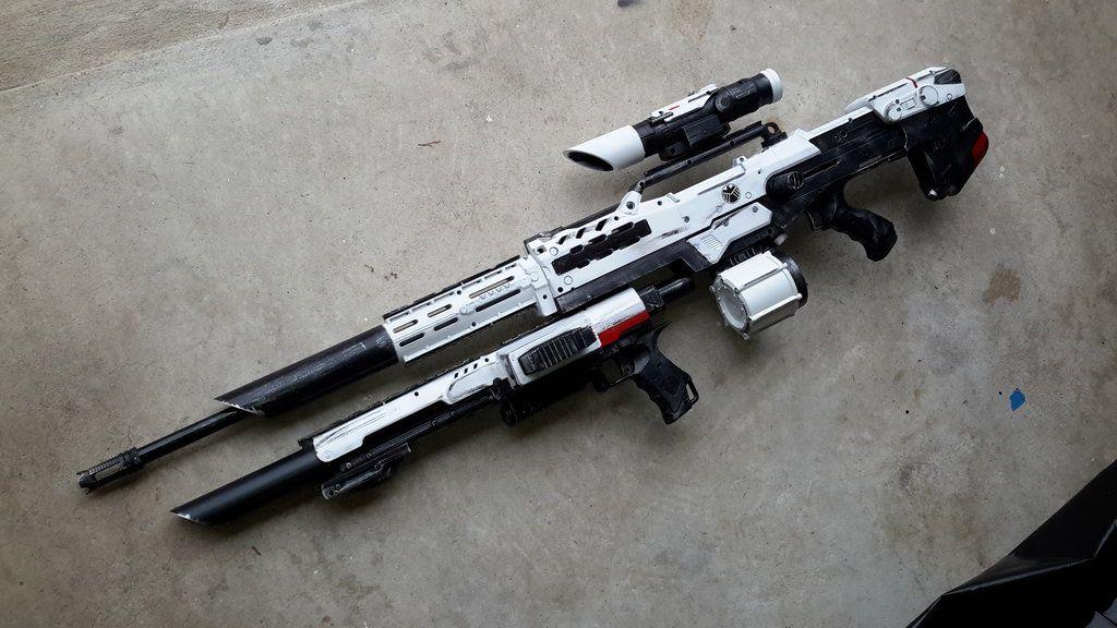 Pin by Justin Bielak on Geek Builds | Modified nerf guns