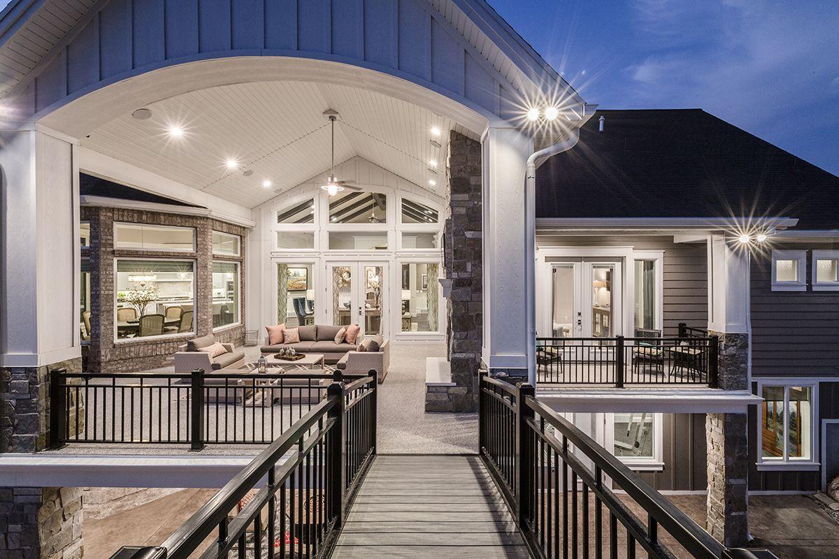 Heritage haven custom home alair homes salt lake city deck in