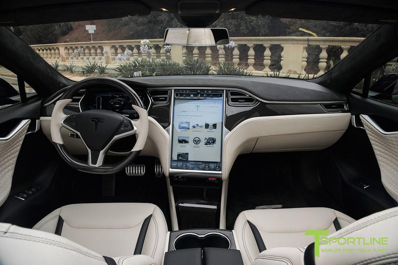 Custom Bentley Linen and Ferrari Black Tesla Model S 1.0 Interior ...