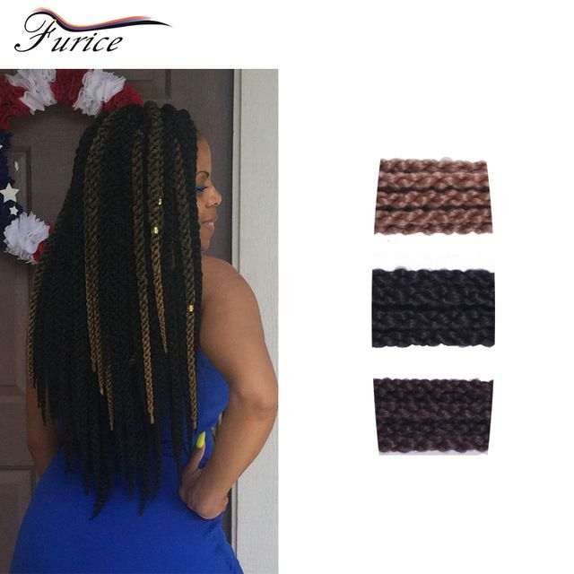 24 Inch 3d Cubic Twist Colorful Ombre Synthetic Braiding Hair