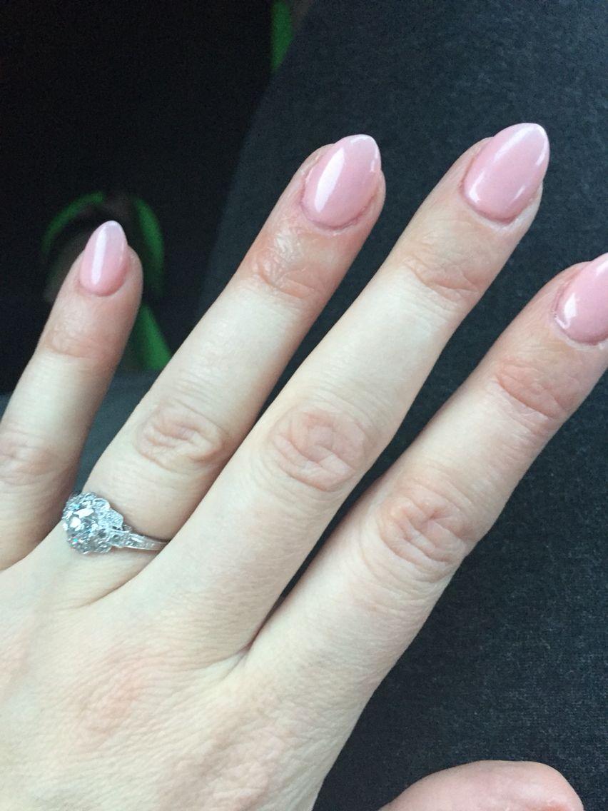 Light Pink Shirt Almond Nails Nails Inspiration Pointed Nails Fashion Nails