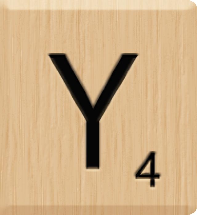 10 Pieces Y Beautiful Scrabble Tiles Letters Individual 10 Letter Y