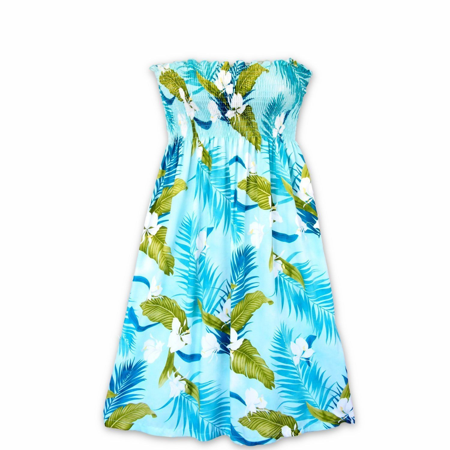 45c0f60237c Always designed in Hawaii at Lavahut! Ginger Breeze Aqua Moonkiss Hawaiian  Dress  madeinhawaii  hawaiianclothing  floraldresses  alohadress  lavahut  ...