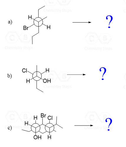 Convert Newman Projection To Bond Line Practice Problems Newman Methyl Group Chemistry