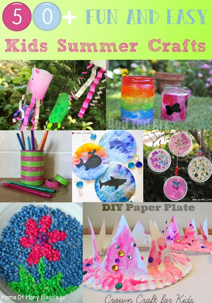 Different Craft Ideas For Kids Part - 22: 50 Awesome, Quick And Easy Kids Craft Ideas For Summer