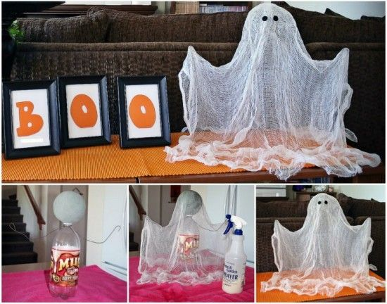You\u0027ll love to make this spooky Floating Ghost Decoration and trick - halloween ghost decor