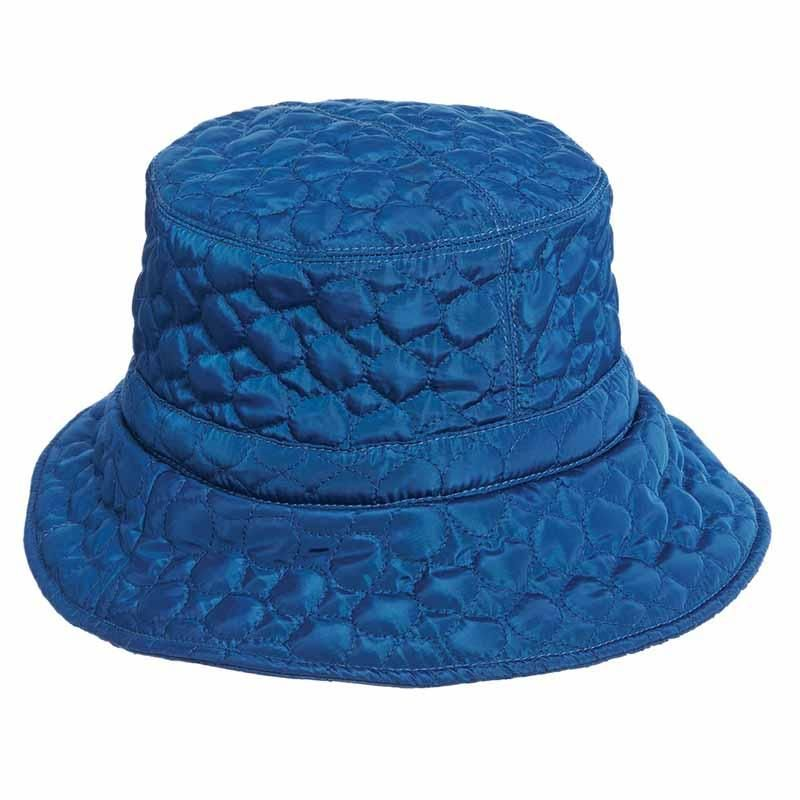 513c6cce Classic bucket style rain quilted hat. Water repellent hat with warm fleece  lining. Adjustable fit toggle. Shapeable brim, 3