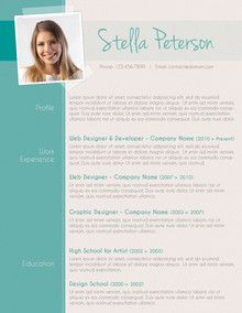 cv template - Resume With Picture Template
