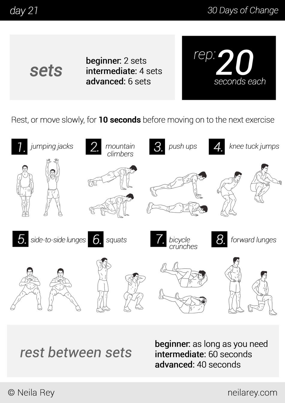 No equipment 30 day workout program | The Best Article Every Day