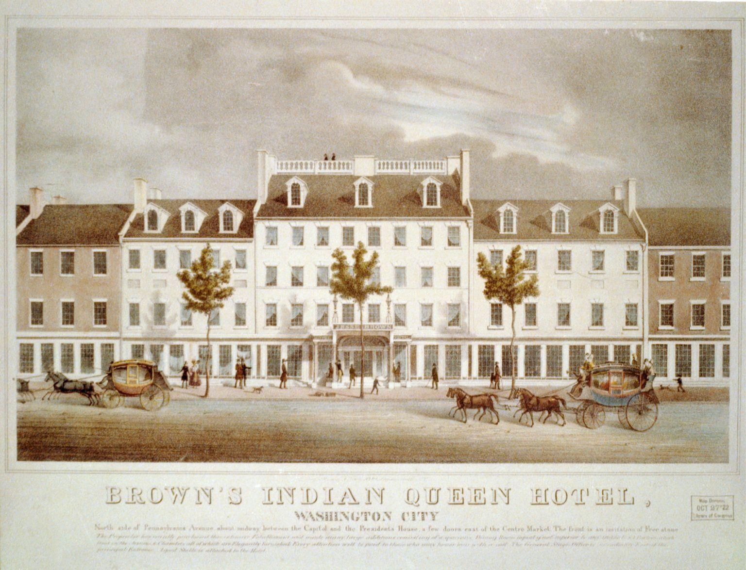 Brown S Indian Queen Hotel On Pennsylvania Avenue Queens Hotel