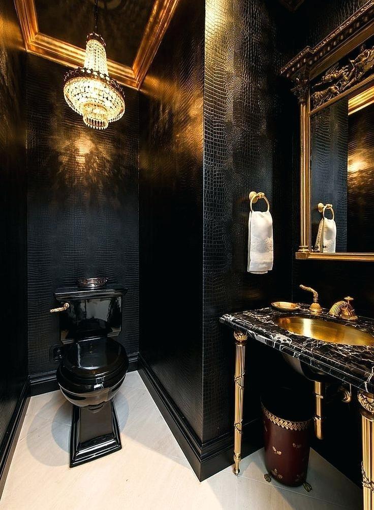 Image Result For Black White And Gold Bathroom Decor Gold Bad Luxusbadezimmer Schwarze Toilette
