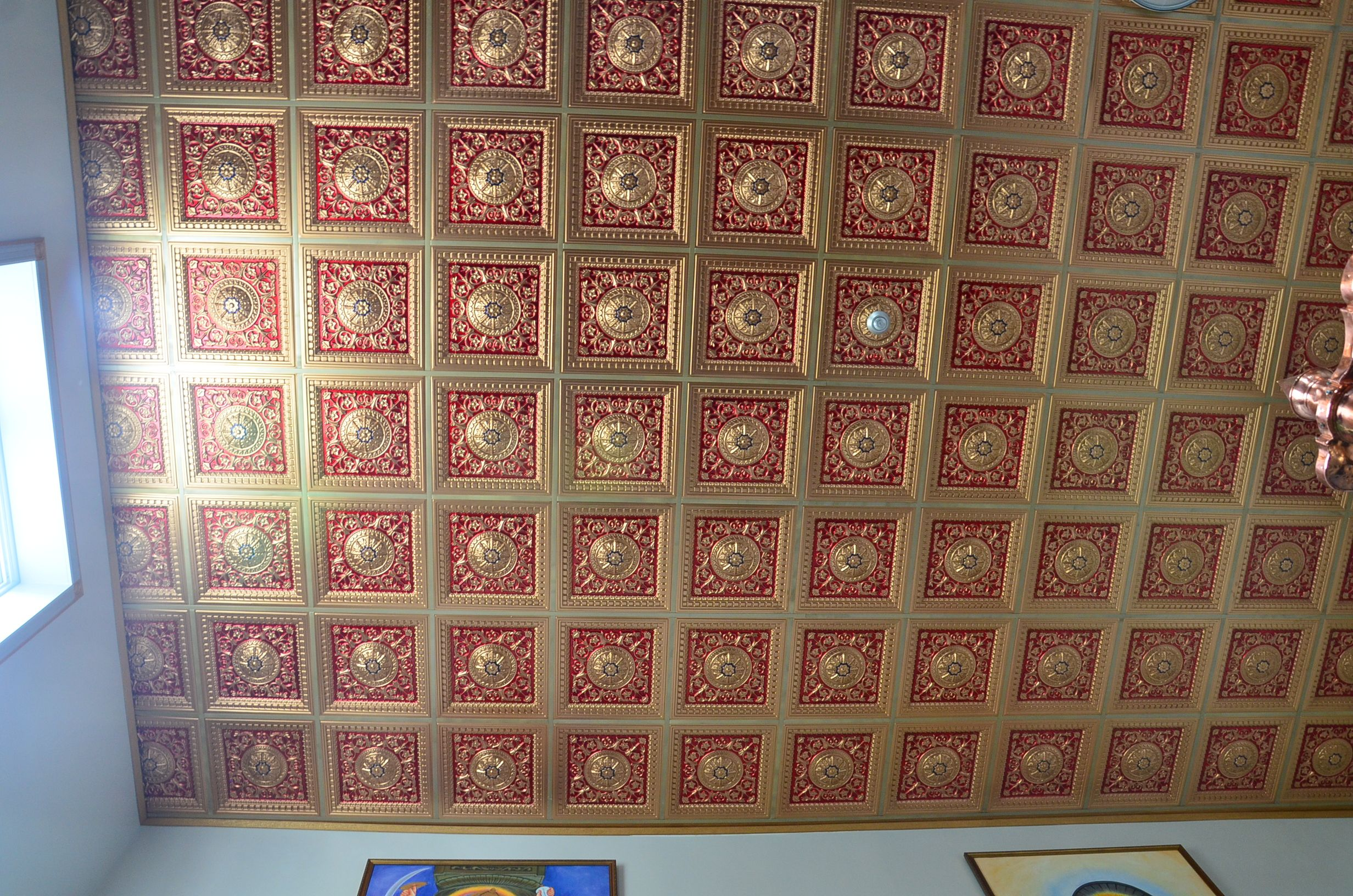 Talissa decor diy pvc faux tin ceiling tile 215 gold red talissa decor diy pvc faux tin ceiling tile 215 gold red royal blue price 1099 size 23 34 x 23 34 httptalissadecorcatalo dailygadgetfo Image collections