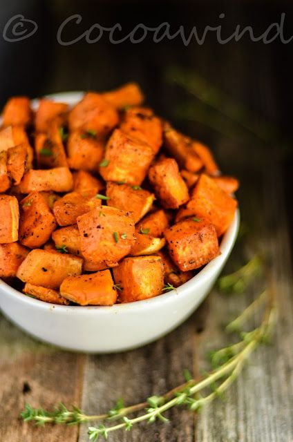 Back to Basics..: Roasted Savory Sweet Potatoes with Thyme & Spices:...