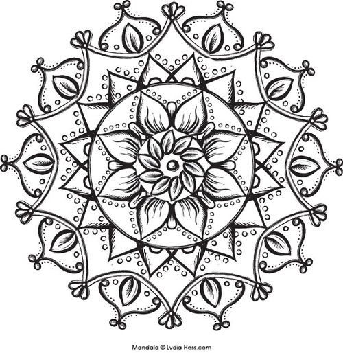 lotus flower mandala coloring pages - Lotus Flower Coloring Pages