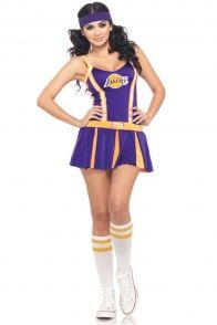 Purple Gold 2 Piece Laker Cheerleader Costume