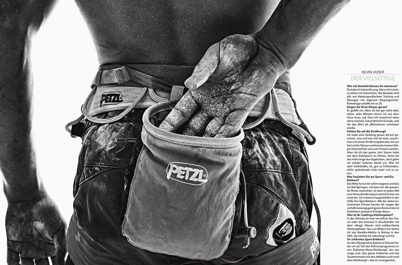 Christoph Köstlin - Muskelspiele Portrait-Series // 16 // Kevin Huser // black-white portrait // climber // sportclimbing // mountaineering // boulder // boulding // body work // muscles