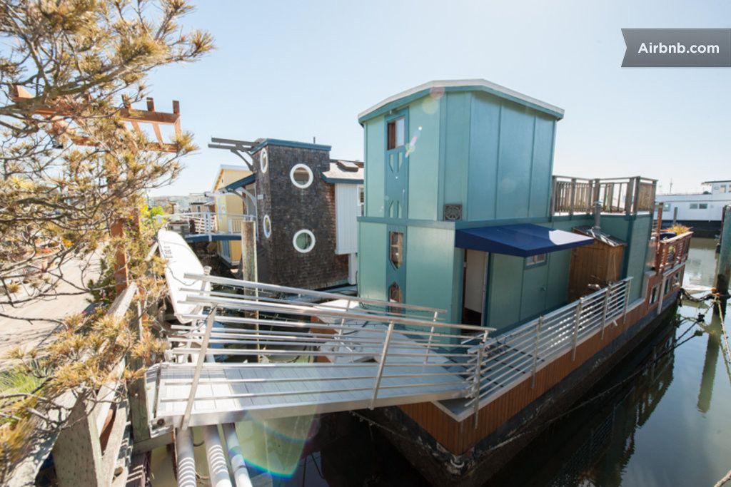 San Francisco Sausalito Houseboat Airbnb