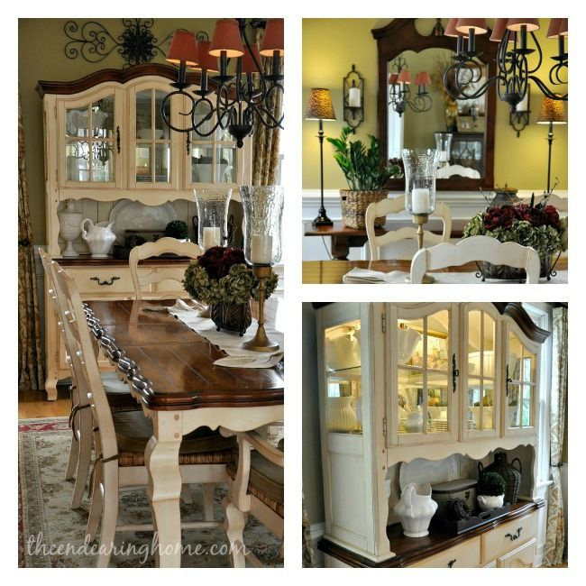 Oak Dining Room Sets With Hutch: Dining Room Collage-- Love This Whole Blog Home Tour. Alot