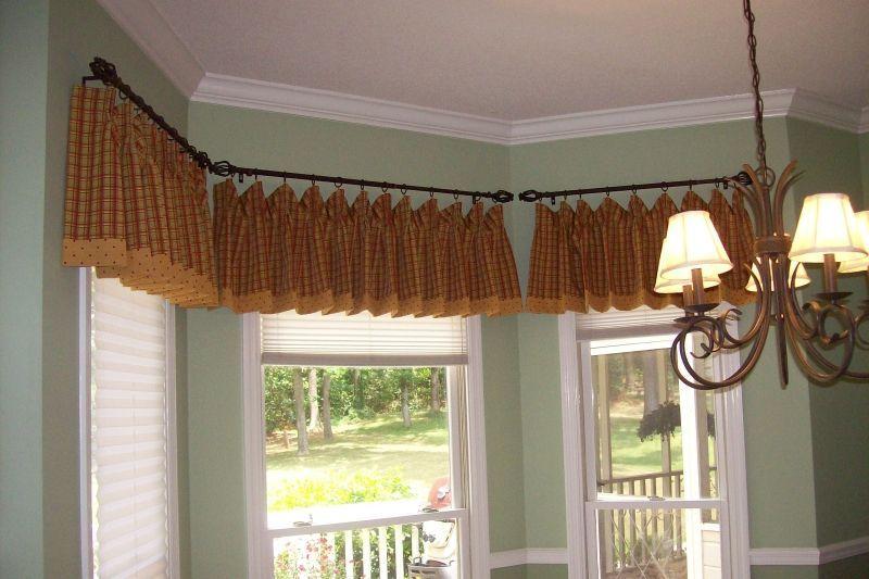 Valance Idea For Kitchen Bay Window Curtains Bay Window Curtain