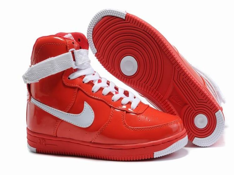 Women Nike Air Force One WhiteRed Top Deals