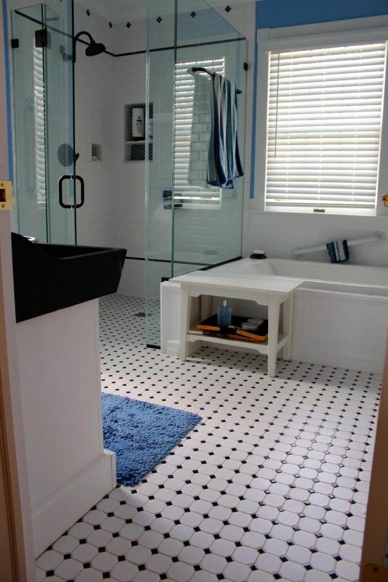 salle de bain rtro carrelage meubles et dco en 55 photos - Carrelage Salle De Bain Vintage