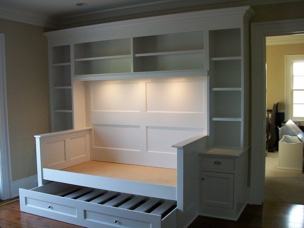 Orange County Daybed With Trundle Transitional Display And Wall Shelves Spaces Traditional Day