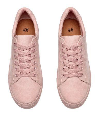 5b0c0eeb10b7  24.99 - Adorable light pink Sneakers up to  size10US  size42EU  size8UK   sneakers  pink  Women  H M  bigsizeshoes  shoes  womenshoes  largesize   plussize   ...