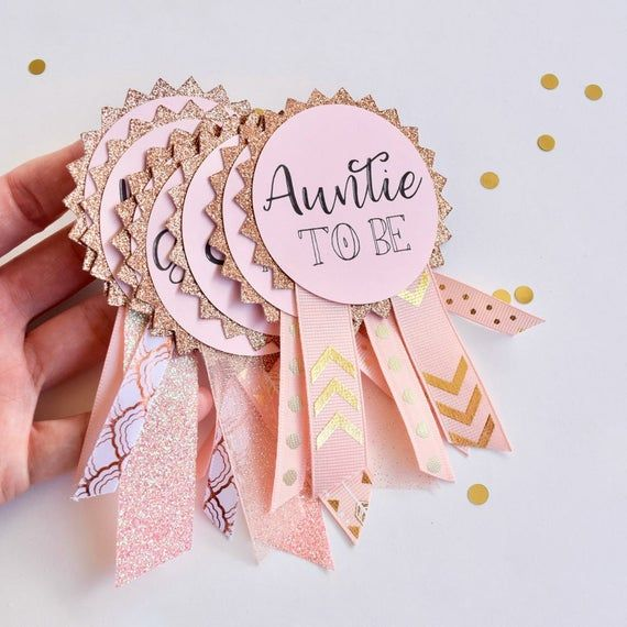 Custom Baby Shower Pins, Rose Gold Baby Shower, Baby Shower Decorations, Girl Baby Shower, Baby Shower Gift, Baby Shower Favors