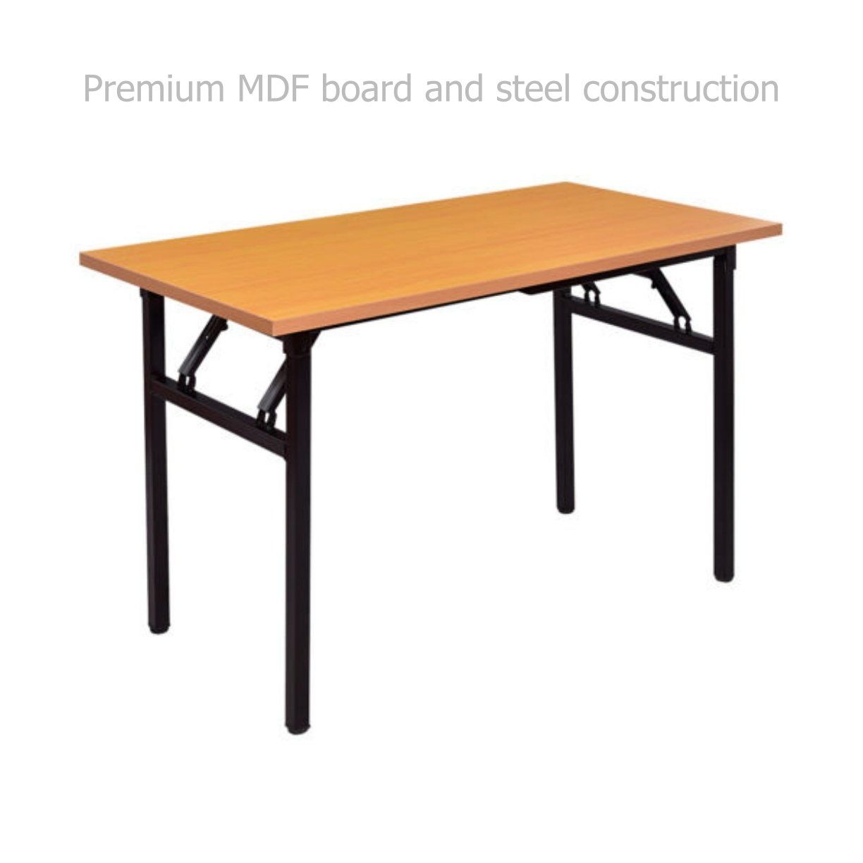 Modern folding table laptop computer writing multifunction desk durable mdf board powder coated steel frame home office furniture officefurniture
