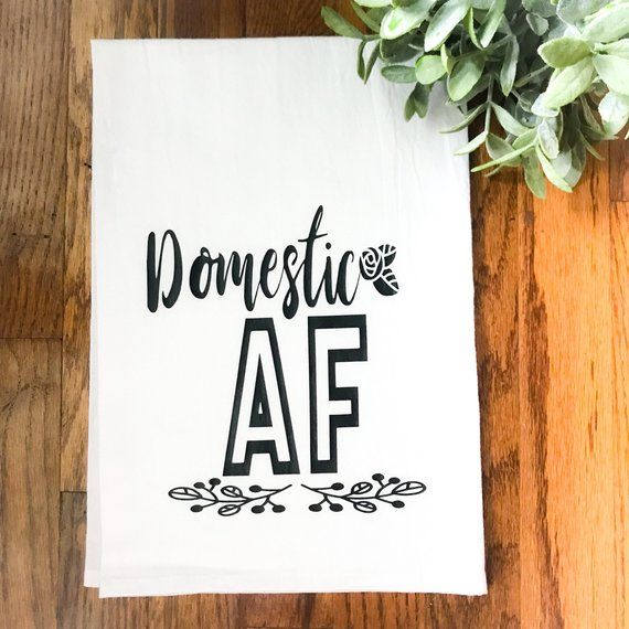 Wedding Gift For Acquaintance: Domestic AF / Funny Wedding Gift / Housewarming Gift For