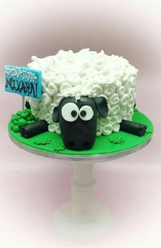Sensational Sheep Cake Shaunthesheep With Images Sheep Cake Farm Cake Funny Birthday Cards Online Benoljebrpdamsfinfo