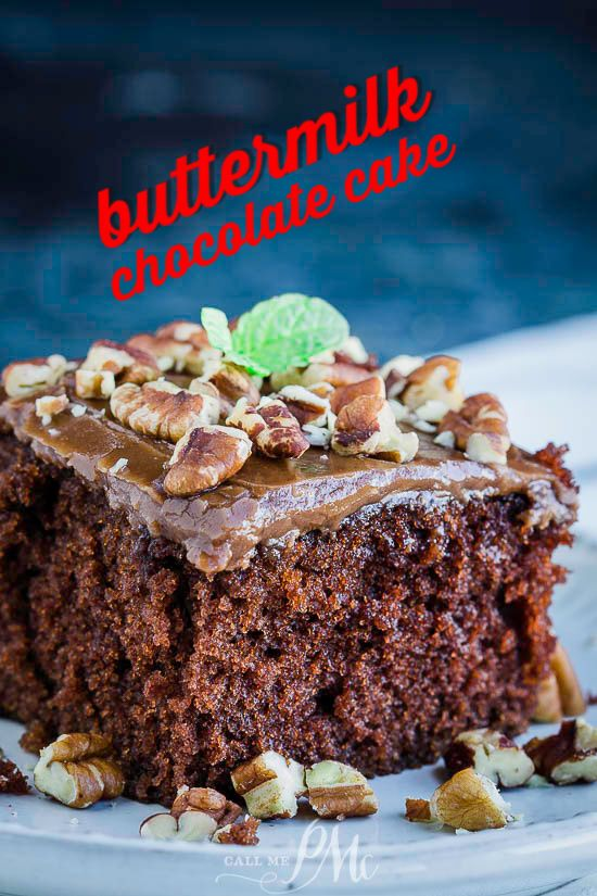 Homemade Buttermilk Chocolate Cake Buttermilk Chocolate Cake Buttermilk Dessert Recipes Buttermilk Recipes