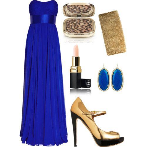 Accesorios Para Un Vestido De Noche Azul Rey Vestidos