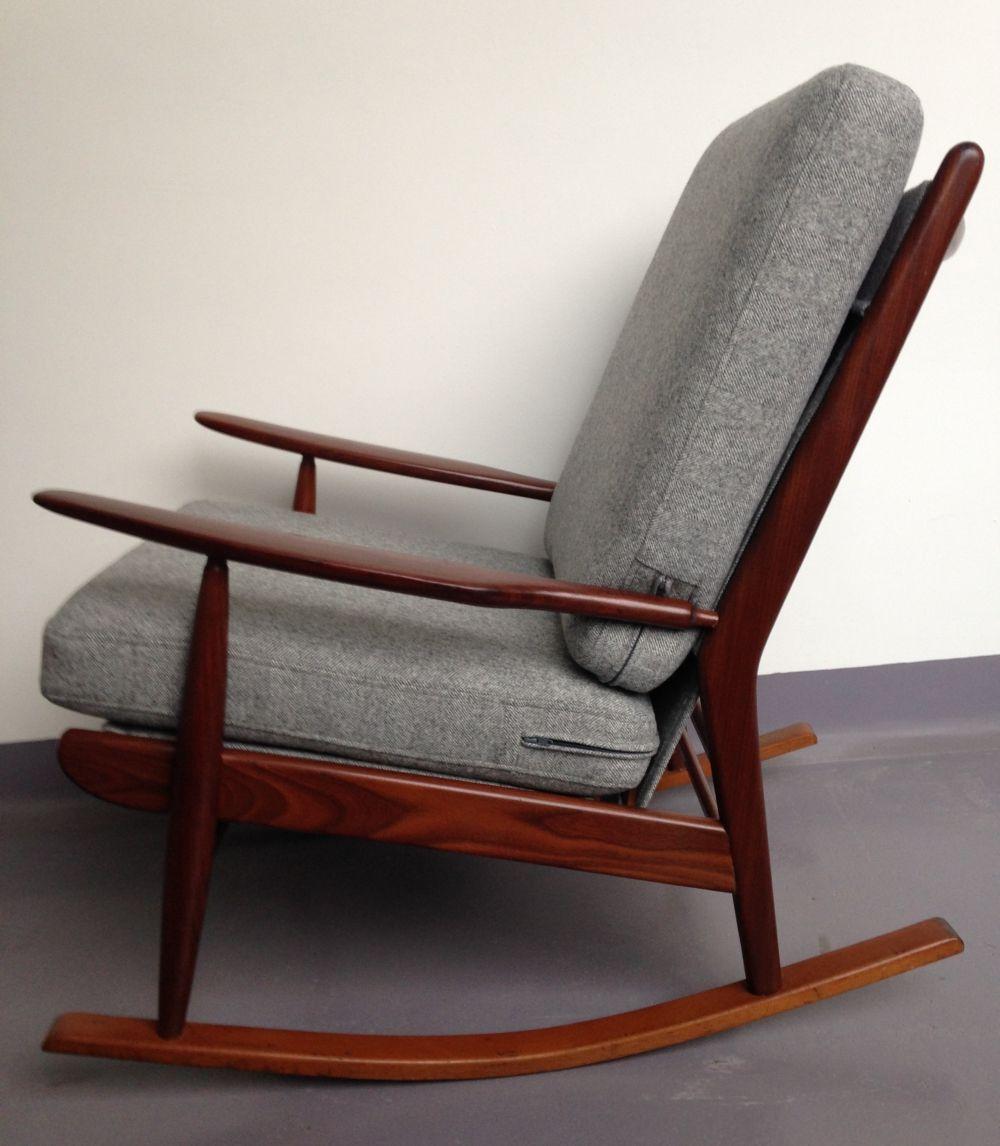 For Sale Mid Century British Teak Rocking Chair Nursing