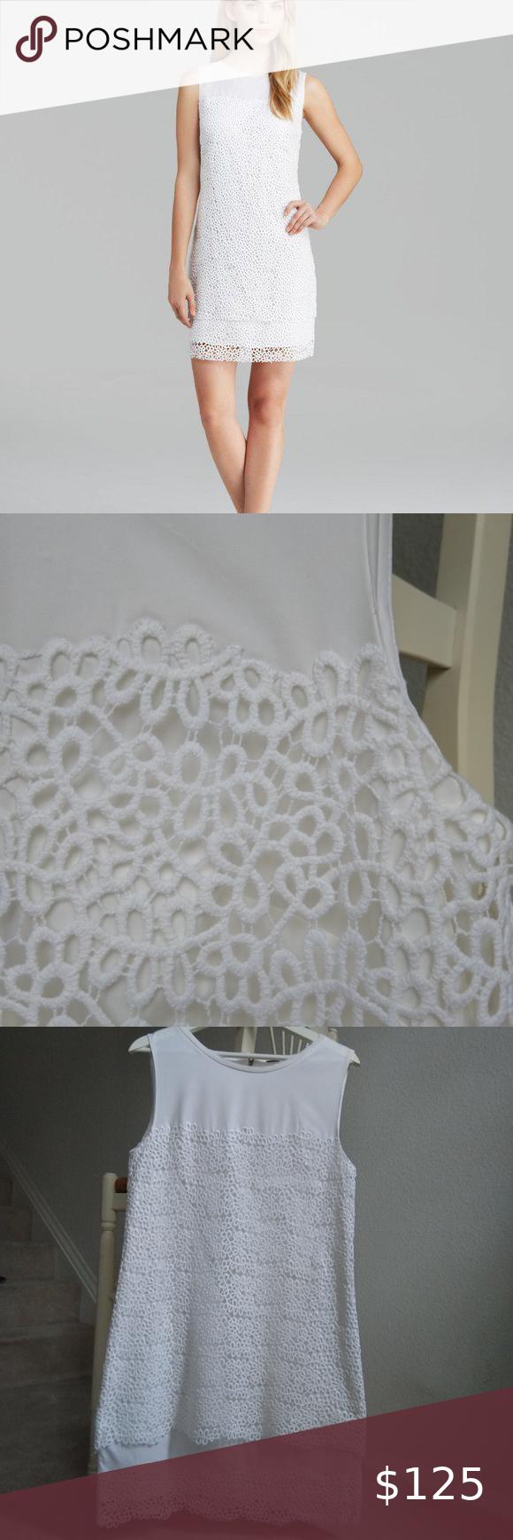 Elie Tahari White Lillian Vine Lace Dress Size 8 Lace Dress Elie Tahari Dresses Colorful Dresses [ 1740 x 580 Pixel ]